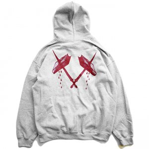 <img class='new_mark_img1' src='https://img.shop-pro.jp/img/new/icons5.gif' style='border:none;display:inline;margin:0px;padding:0px;width:auto;' />FEEVERBUG BLOOD HOODIE / HEATHER GREY (フィバーバグ パーカー/スウェット)