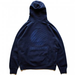 <img class='new_mark_img1' src='//img.shop-pro.jp/img/new/icons5.gif' style='border:none;display:inline;margin:0px;padding:0px;width:auto;' />HELLRAZOR LOGO EMB HOODIE / DEEP NAVY (ヘルレイザー パーカー/フーディ)