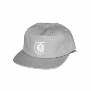 <img class='new_mark_img1' src='//img.shop-pro.jp/img/new/icons5.gif' style='border:none;display:inline;margin:0px;padding:0px;width:auto;' />THEORIES LANTERN CANVAS STRAPBACK CAP / WOLF GREY (セオリーズ  スナップバックキャップ/5パネルキャップ)