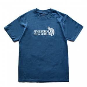 <img class='new_mark_img1' src='https://img.shop-pro.jp/img/new/icons5.gif' style='border:none;display:inline;margin:0px;padding:0px;width:auto;' />5BORO STILL STANDING TEE / HARBOR BLUE (ファイブボロ/Tシャツ)