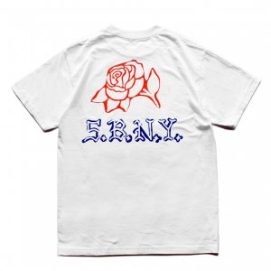 <img class='new_mark_img1' src='https://img.shop-pro.jp/img/new/icons5.gif' style='border:none;display:inline;margin:0px;padding:0px;width:auto;' />5BORO DIY ROSE TEE / WHITE (ファイブボロ/Tシャツ)