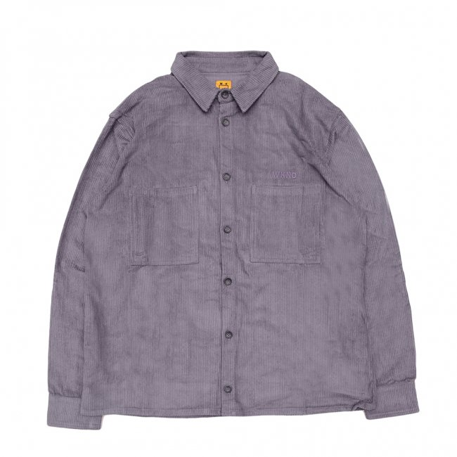 <img class='new_mark_img1' src='https://img.shop-pro.jp/img/new/icons5.gif' style='border:none;display:inline;margin:0px;padding:0px;width:auto;' />WKND MAJOR CORD BUTTON SHIRT/ SLATE BLUE (ウィークエンド コーデュロイ長袖シャツ)