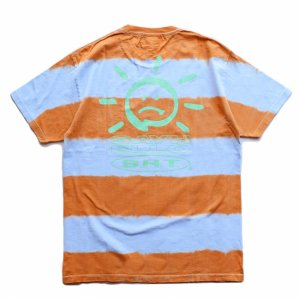 <img class='new_mark_img1' src='https://img.shop-pro.jp/img/new/icons1.gif' style='border:none;display:inline;margin:0px;padding:0px;width:auto;' />SAYHELLO BORDER TIE DYE TEE / POWDER BLUE・ORANGE (セイハロー / Tシャツ)