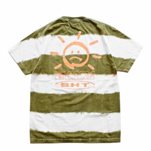 <img class='new_mark_img1' src='//img.shop-pro.jp/img/new/icons1.gif' style='border:none;display:inline;margin:0px;padding:0px;width:auto;' />SAYHELLO BORDER TIE DYE TEE / WHITE・GREEN (セイハロー / Tシャツ)