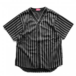 <img class='new_mark_img1' src='//img.shop-pro.jp/img/new/icons5.gif' style='border:none;display:inline;margin:0px;padding:0px;width:auto;' />HELLRAZOR SUCKS MESH BASEBALL SHIRT / BLACK (ヘルレイザー 半袖シャツ)