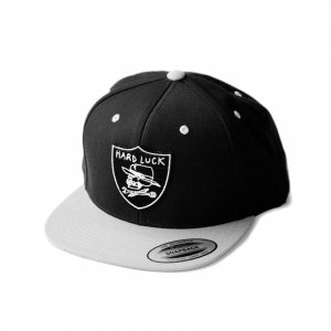 <img class='new_mark_img1' src='//img.shop-pro.jp/img/new/icons5.gif' style='border:none;display:inline;margin:0px;padding:0px;width:auto;' />HARDLUCK OG LOGO 6PANEL SNAPBACK CAP/ BLACK×GREY (ハードラック 5パネルキャップ)