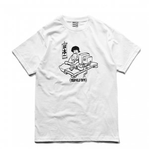 <img class='new_mark_img1' src='//img.shop-pro.jp/img/new/icons1.gif' style='border:none;display:inline;margin:0px;padding:0px;width:auto;' />SAYHELLO Japanese Geek TEE / White (セイハロー / Tシャツ)