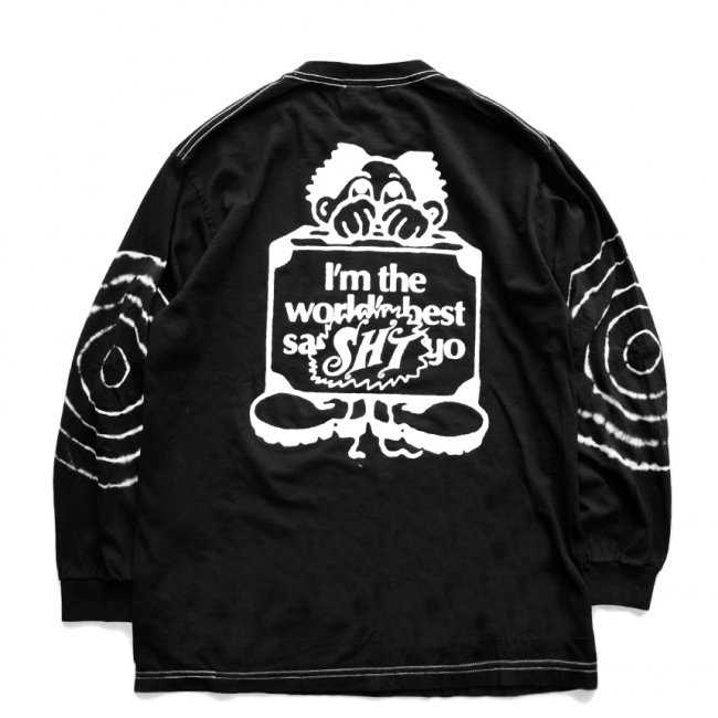 <img class='new_mark_img1' src='https://img.shop-pro.jp/img/new/icons5.gif' style='border:none;display:inline;margin:0px;padding:0px;width:auto;' />SAYHELLO Sleeve Tie Dye L/S TEE / Black (セイハロー  ロングスリーブTシャツ/ロンT)