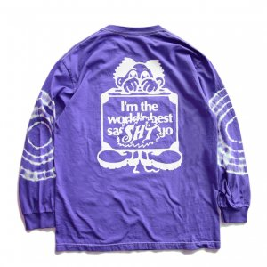 <img class='new_mark_img1' src='https://img.shop-pro.jp/img/new/icons5.gif' style='border:none;display:inline;margin:0px;padding:0px;width:auto;' />SAYHELLO Sleeve Tie Dye L/S TEE / Dark Lavender (セイハロー  ロングスリーブTシャツ/ロンT)