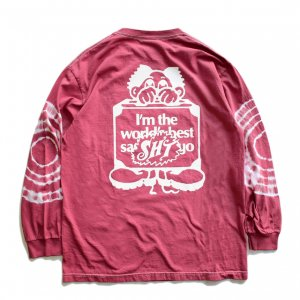 <img class='new_mark_img1' src='https://img.shop-pro.jp/img/new/icons5.gif' style='border:none;display:inline;margin:0px;padding:0px;width:auto;' />SAYHELLO Sleeve Tie Dye L/S TEE / Dark Pink (セイハロー  ロングスリーブTシャツ/ロンT)
