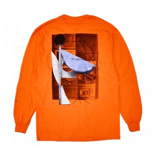 <img class='new_mark_img1' src='https://img.shop-pro.jp/img/new/icons5.gif' style='border:none;display:inline;margin:0px;padding:0px;width:auto;' />ISLE SCULPTURE L/S T-SHIRT / ORANGE (アイル 長袖 / ロングスリーブ Tシャツ)