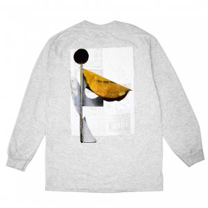 <img class='new_mark_img1' src='https://img.shop-pro.jp/img/new/icons5.gif' style='border:none;display:inline;margin:0px;padding:0px;width:auto;' />ISLE SCULPTURE L/S T-SHIRT / HEATHER GREY (アイル 長袖 / ロングスリーブ Tシャツ)