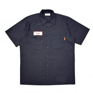 <img class='new_mark_img1' src='https://img.shop-pro.jp/img/new/icons5.gif' style='border:none;display:inline;margin:0px;padding:0px;width:auto;' />HORRIBLE'S LOVE Paulie S/S WORK SHIRT / NAVY (ホリブルズ 半袖ワークシャツ)