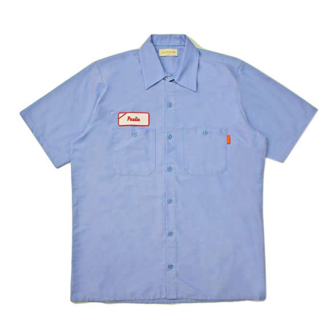 <img class='new_mark_img1' src='https://img.shop-pro.jp/img/new/icons5.gif' style='border:none;display:inline;margin:0px;padding:0px;width:auto;' />HORRIBLE'S LOVE Paulie S/S WORK SHIRT / LIGHT BLUE (ホリブルズ 半袖ワークシャツ)