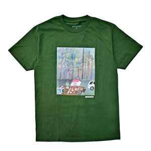 <img class='new_mark_img1' src='https://img.shop-pro.jp/img/new/icons5.gif' style='border:none;display:inline;margin:0px;padding:0px;width:auto;' />GX1000 CAMPING TEE / FOREST GREEN (ジーエックスセン Tシャツ / 半袖)