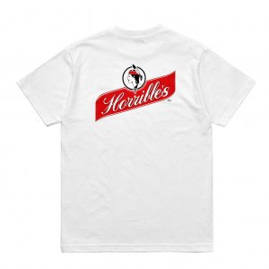 <img class='new_mark_img1' src='https://img.shop-pro.jp/img/new/icons5.gif' style='border:none;display:inline;margin:0px;padding:0px;width:auto;' />HORRIBLE'S CHEERS T-SHIRT / WHITE (ホリブルズ Tシャツ)