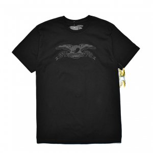 <img class='new_mark_img1' src='https://img.shop-pro.jp/img/new/icons5.gif' style='border:none;display:inline;margin:0px;padding:0px;width:auto;' />ANTIHERO BASIC EAGLE T-SHIRT / BLACK (アンチヒーロー/ Tシャツ)