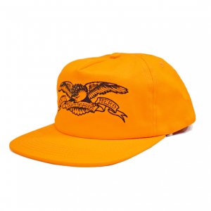<img class='new_mark_img1' src='//img.shop-pro.jp/img/new/icons5.gif' style='border:none;display:inline;margin:0px;padding:0px;width:auto;' />ANTIHERO BASIC EAGLE 5PANEL CAP / ORANGE (アンチヒーロー/ キャップ)