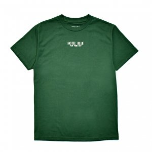 <img class='new_mark_img1' src='https://img.shop-pro.jp/img/new/icons5.gif' style='border:none;display:inline;margin:0px;padding:0px;width:auto;' />HOTEL BLUE LOGO TEE / FOREST GREEN (ホテルブルー Tシャツ/半袖)