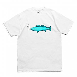 <img class='new_mark_img1' src='https://img.shop-pro.jp/img/new/icons5.gif' style='border:none;display:inline;margin:0px;padding:0px;width:auto;' />Good Worth & Co. SMOKING FISH TEE / WHITE (グッドワース Tシャツ)