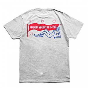 <img class='new_mark_img1' src='https://img.shop-pro.jp/img/new/icons5.gif' style='border:none;display:inline;margin:0px;padding:0px;width:auto;' />Good Worth & Co. LOGO TEE / HEATHER GREY (グッドワース Tシャツ)
