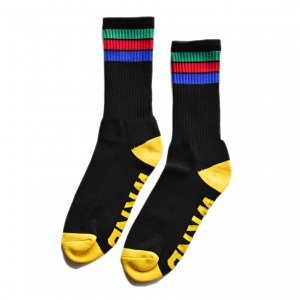 <img class='new_mark_img1' src='//img.shop-pro.jp/img/new/icons5.gif' style='border:none;display:inline;margin:0px;padding:0px;width:auto;' />WKND STRIPE SOCKS / BLACK (ウィークエンド ソックス)