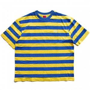 <img class='new_mark_img1' src='//img.shop-pro.jp/img/new/icons5.gif' style='border:none;display:inline;margin:0px;padding:0px;width:auto;' />WKND STRIPE TEE / YELLOW & BLUE (ウィークエンド Tシャツ)