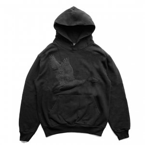 <img class='new_mark_img1' src='https://img.shop-pro.jp/img/new/icons5.gif' style='border:none;display:inline;margin:0px;padding:0px;width:auto;' />GRAND COLLECTION GOOSE EMBROIDERED SWEATSHIRT / BLACK (グランドコレクション スウェット/パーカー)