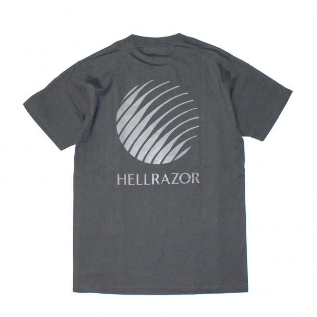 <img class='new_mark_img1' src='https://img.shop-pro.jp/img/new/icons5.gif' style='border:none;display:inline;margin:0px;padding:0px;width:auto;' />HELLRAZOR LOGO SHIRT / GREY (ヘルレイザー Tシャツ)