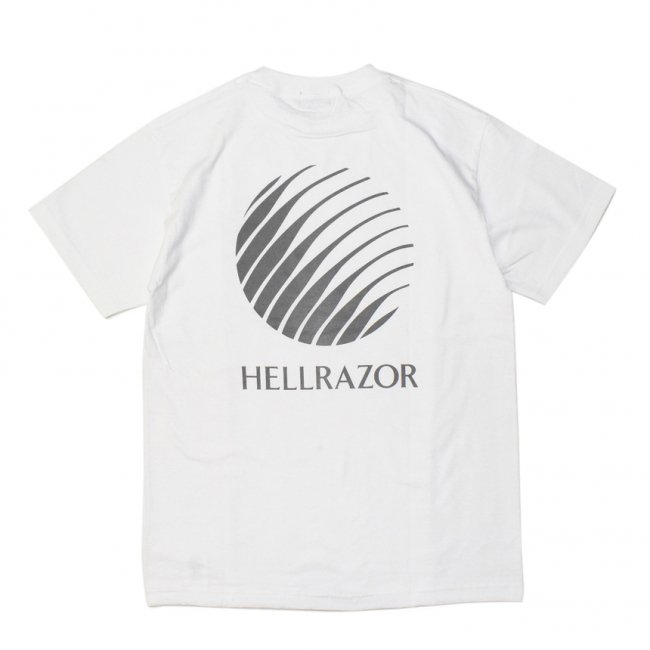 <img class='new_mark_img1' src='https://img.shop-pro.jp/img/new/icons5.gif' style='border:none;display:inline;margin:0px;padding:0px;width:auto;' />HELLRAZOR LOGO SHIRT / WHITE (ヘルレイザー Tシャツ)