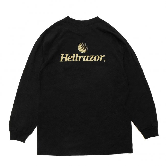 <img class='new_mark_img1' src='https://img.shop-pro.jp/img/new/icons5.gif' style='border:none;display:inline;margin:0px;padding:0px;width:auto;' />Hellrazor TRADEMARK LOGO L/S TEE / BLACK (ヘルレイザー ロングスリーブTシャツ)