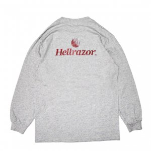 <img class='new_mark_img1' src='https://img.shop-pro.jp/img/new/icons5.gif' style='border:none;display:inline;margin:0px;padding:0px;width:auto;' />Hellrazor TRADEMARK LOGO L/S TEE / GREY (ヘルレイザー ロングスリーブTシャツ)