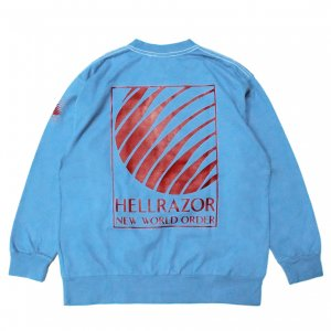 <img class='new_mark_img1' src='https://img.shop-pro.jp/img/new/icons5.gif' style='border:none;display:inline;margin:0px;padding:0px;width:auto;' />Hellrazor NWO LOGO SEWN TEE / SLATE (ヘルレイザー ロングスリーブTシャツ)
