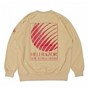 <img class='new_mark_img1' src='https://img.shop-pro.jp/img/new/icons5.gif' style='border:none;display:inline;margin:0px;padding:0px;width:auto;' />Hellrazor NWO LOGO SEWN TEE / SAND (ヘルレイザー ロングスリーブTシャツ)
