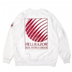 <img class='new_mark_img1' src='https://img.shop-pro.jp/img/new/icons5.gif' style='border:none;display:inline;margin:0px;padding:0px;width:auto;' />Hellrazor NWO LOGO SEWN TEE / WHITE (ヘルレイザー ロングスリーブTシャツ)