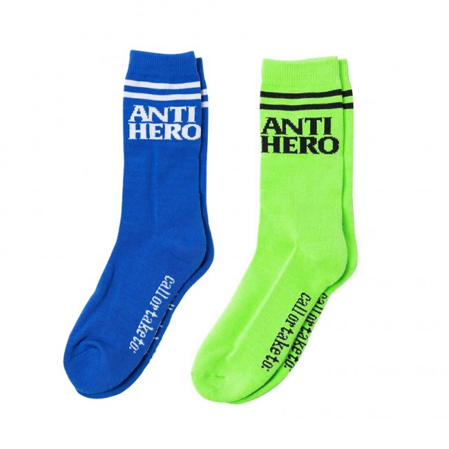 <img class='new_mark_img1' src='https://img.shop-pro.jp/img/new/icons5.gif' style='border:none;display:inline;margin:0px;padding:0px;width:auto;' />ANTIHERO  BLACKHERO IF FOUND SOCKS (アンチヒーロー ソックス)
