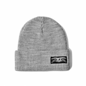 <img class='new_mark_img1' src='https://img.shop-pro.jp/img/new/icons5.gif' style='border:none;display:inline;margin:0px;padding:0px;width:auto;' />ANTIHERO STOCK EAGLE LABEL CUFF BEANIE / HEATHER GREY (アンチヒーロー/ キャップ)