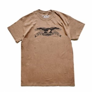 <img class='new_mark_img1' src='https://img.shop-pro.jp/img/new/icons5.gif' style='border:none;display:inline;margin:0px;padding:0px;width:auto;' />ANTIHERO BASIC EAGLE T-SHIRT /COFFEE / BLACK(アンチヒーロー/ Tシャツ)