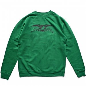 <img class='new_mark_img1' src='//img.shop-pro.jp/img/new/icons5.gif' style='border:none;display:inline;margin:0px;padding:0px;width:auto;' />ANTIHERO BASIC EAGLE SWEATSHIRT / DARK GREEN / BLACK (アンチヒーロー/ クルーネック)