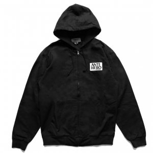 <img class='new_mark_img1' src='https://img.shop-pro.jp/img/new/icons5.gif' style='border:none;display:inline;margin:0px;padding:0px;width:auto;' />ANTIHERO RESERVE ZIP UP HOODED JACKET/ BLACK (アンチヒーロー/ジャケット)