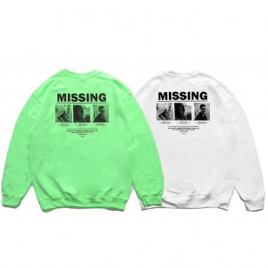 <img class='new_mark_img1' src='https://img.shop-pro.jp/img/new/icons5.gif' style='border:none;display:inline;margin:0px;padding:0px;width:auto;' />HORRIBLE'S PROJECT MISSING CREWNECK SWEAT /  (ホリブルズ プロジェクト クルーネック スウェット)