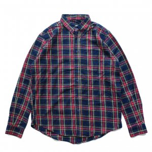 <img class='new_mark_img1' src='https://img.shop-pro.jp/img/new/icons5.gif' style='border:none;display:inline;margin:0px;padding:0px;width:auto;' />THEORIES TARTAN FLANNEL SHIRT / NAVY(セオリーズ フランネルシャツ/長袖シャツ)