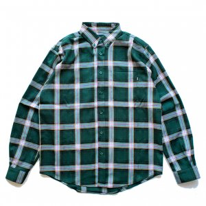 <img class='new_mark_img1' src='https://img.shop-pro.jp/img/new/icons5.gif' style='border:none;display:inline;margin:0px;padding:0px;width:auto;' />THEORIES TARTAN FLANNEL SHIRT / GREEN(セオリーズ フランネルシャツ/長袖シャツ)