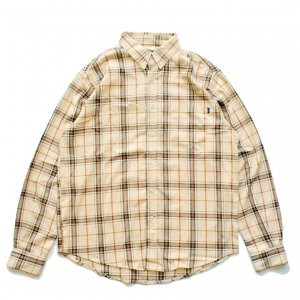 <img class='new_mark_img1' src='https://img.shop-pro.jp/img/new/icons5.gif' style='border:none;display:inline;margin:0px;padding:0px;width:auto;' />THEORIES TARTAN FLANNEL SHIRT / KHAKI(セオリーズ フランネルシャツ/長袖シャツ)