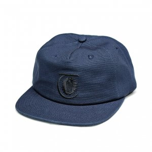 <img class='new_mark_img1' src='https://img.shop-pro.jp/img/new/icons5.gif' style='border:none;display:inline;margin:0px;padding:0px;width:auto;' />THEORIES LANTERN CANVAS STRAPBACK CAP / HARBOR BLUE (セオリーズ  スナップバックキャップ/5パネルキャップ)
