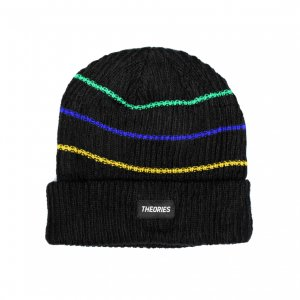 <img class='new_mark_img1' src='https://img.shop-pro.jp/img/new/icons5.gif' style='border:none;display:inline;margin:0px;padding:0px;width:auto;' />THEORIES THIN STRIPE BEANIE / BLACK (セオリーズ ビーニー/ニットキャップ)