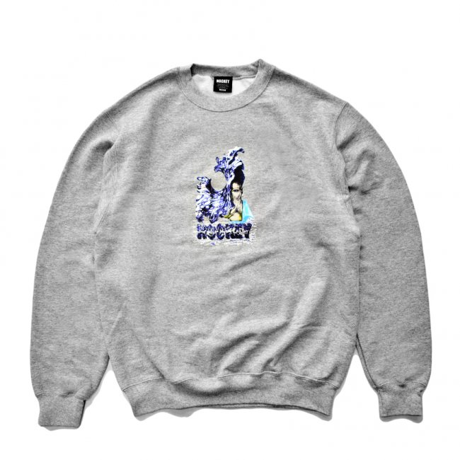 <img class='new_mark_img1' src='https://img.shop-pro.jp/img/new/icons5.gif' style='border:none;display:inline;margin:0px;padding:0px;width:auto;' />HOCKEY LIQUID METAL CREWNECK SWEAT / GREY HEATHER (ホッキー スウェット)