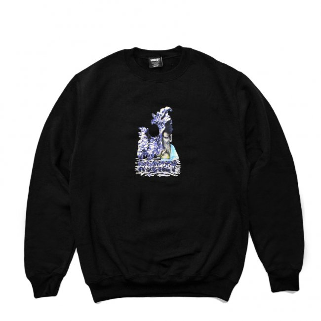 <img class='new_mark_img1' src='https://img.shop-pro.jp/img/new/icons5.gif' style='border:none;display:inline;margin:0px;padding:0px;width:auto;' />HOCKEY LIQUID METAL CREWNECK SWEAT / BLACK (ホッキー スウェット)
