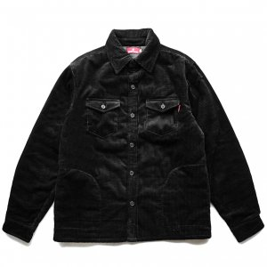 <img class='new_mark_img1' src='https://img.shop-pro.jp/img/new/icons5.gif' style='border:none;display:inline;margin:0px;padding:0px;width:auto;' />HELLRAZOR CORDUROY SHIRT JACKET / BLACK (ヘルレイザー コーデュロイジャケット)