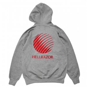 <img class='new_mark_img1' src='https://img.shop-pro.jp/img/new/icons5.gif' style='border:none;display:inline;margin:0px;padding:0px;width:auto;' />HELLRAZOR LOGO EMB HOODIE / GREY (ヘルレイザー パーカー/フーディ)